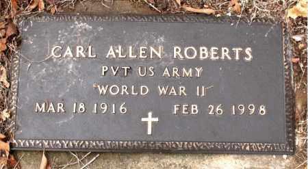 ROBERTS  (VETERAN WWII), CARL  ALLEN - Boone County, Arkansas | CARL  ALLEN ROBERTS  (VETERAN WWII) - Arkansas Gravestone Photos