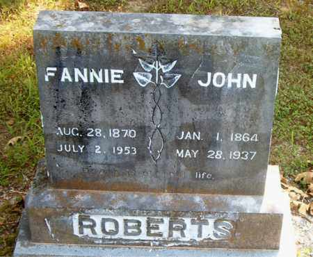 ROBERTS, FANNIE - Boone County, Arkansas | FANNIE ROBERTS - Arkansas Gravestone Photos