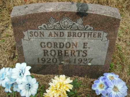 ROBERTS, GORDON E. - Boone County, Arkansas | GORDON E. ROBERTS - Arkansas Gravestone Photos
