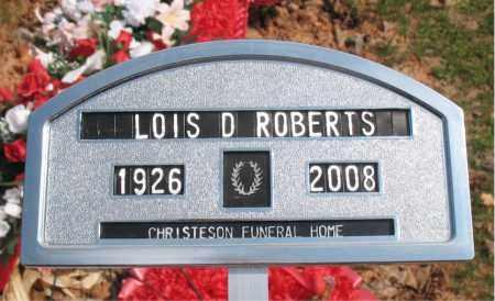 ROBERTS, LOIS D. - Boone County, Arkansas | LOIS D. ROBERTS - Arkansas Gravestone Photos