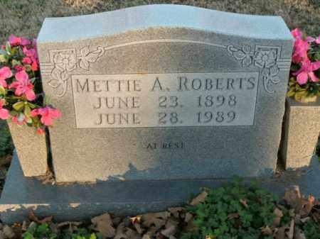 ROBERTS, METTIE ANN - Boone County, Arkansas | METTIE ANN ROBERTS - Arkansas Gravestone Photos