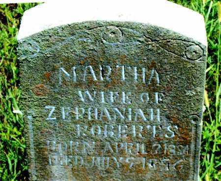 ROBERTS, MARTHA - Boone County, Arkansas | MARTHA ROBERTS - Arkansas Gravestone Photos