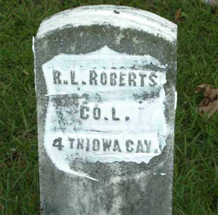 ROBERTS  (VETERAN UNION), R.  L. - Boone County, Arkansas   R.  L. ROBERTS  (VETERAN UNION) - Arkansas Gravestone Photos