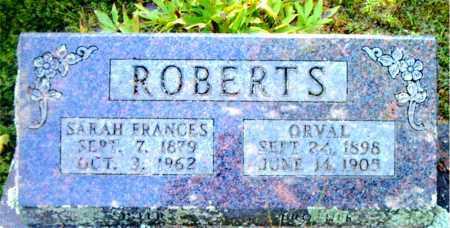 ROBERTS, SARAH  FRANCES - Boone County, Arkansas | SARAH  FRANCES ROBERTS - Arkansas Gravestone Photos