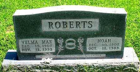 HUGHES ROBERTS, VELMA MAE - Boone County, Arkansas | VELMA MAE HUGHES ROBERTS - Arkansas Gravestone Photos