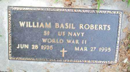 ROBERTS  (VETERAN WWII), WILLIAM  BASIL - Boone County, Arkansas   WILLIAM  BASIL ROBERTS  (VETERAN WWII) - Arkansas Gravestone Photos