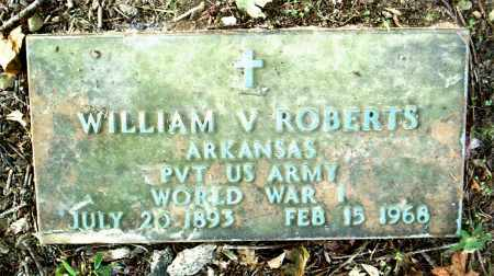 ROBERTS (VETERAN WWI), WILLIAM  V - Boone County, Arkansas | WILLIAM  V ROBERTS (VETERAN WWI) - Arkansas Gravestone Photos