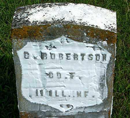 ROBERTSON  (VETERAN UNION), C - Boone County, Arkansas   C ROBERTSON  (VETERAN UNION) - Arkansas Gravestone Photos