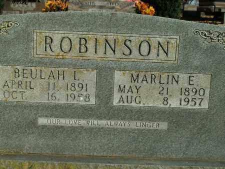 ROBINSON, MARLIN E. - Boone County, Arkansas | MARLIN E. ROBINSON - Arkansas Gravestone Photos