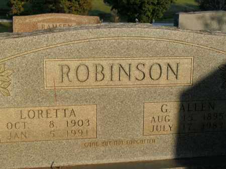ROBINSON, G. ALLEN - Boone County, Arkansas | G. ALLEN ROBINSON - Arkansas Gravestone Photos