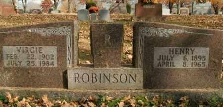ROBINSON, VIRGIE - Boone County, Arkansas | VIRGIE ROBINSON - Arkansas Gravestone Photos