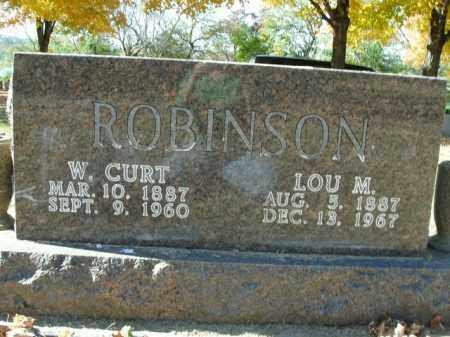 ROBINSON, LOU M. - Boone County, Arkansas   LOU M. ROBINSON - Arkansas Gravestone Photos