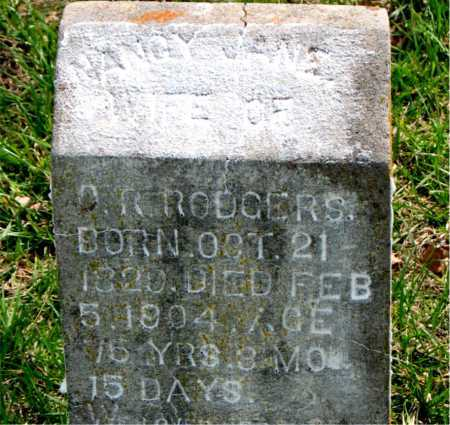 RODGERS, NANCY JANE - Boone County, Arkansas | NANCY JANE RODGERS - Arkansas Gravestone Photos