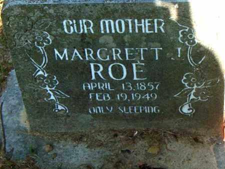 ROE, MARGRETT - Boone County, Arkansas   MARGRETT ROE - Arkansas Gravestone Photos