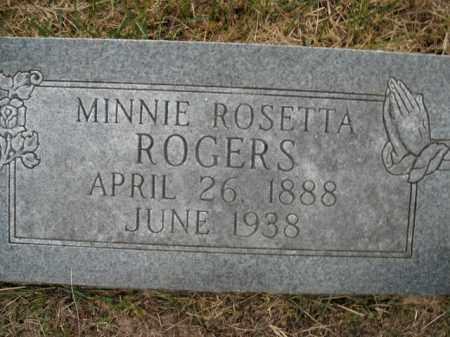 ROGERS, MINNIE ROSETTA - Boone County, Arkansas | MINNIE ROSETTA ROGERS - Arkansas Gravestone Photos