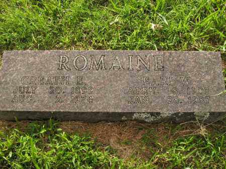 ROMAINE, EARL W. - Boone County, Arkansas | EARL W. ROMAINE - Arkansas Gravestone Photos