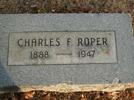 ROPER, CHARLES F. - Boone County, Arkansas   CHARLES F. ROPER - Arkansas Gravestone Photos