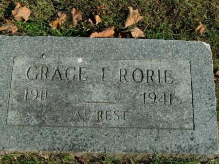 RORIE, GRACE T. - Boone County, Arkansas | GRACE T. RORIE - Arkansas Gravestone Photos