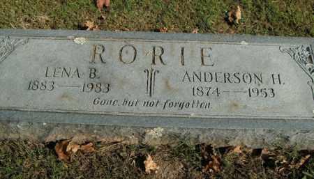 RORIE, ANDERSON H. - Boone County, Arkansas | ANDERSON H. RORIE - Arkansas Gravestone Photos