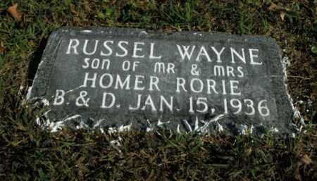 RORIE, RUSSEL WAYNE - Boone County, Arkansas   RUSSEL WAYNE RORIE - Arkansas Gravestone Photos