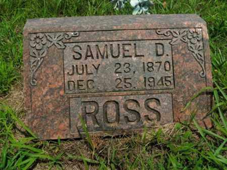ROSS, SAMUEL D. - Boone County, Arkansas   SAMUEL D. ROSS - Arkansas Gravestone Photos
