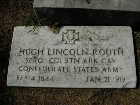 ROUTH  (VETERAN CSA), HUGH LINCOLN - Boone County, Arkansas | HUGH LINCOLN ROUTH  (VETERAN CSA) - Arkansas Gravestone Photos