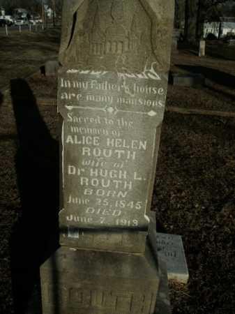 ROUTH, ALICE HELEN - Boone County, Arkansas | ALICE HELEN ROUTH - Arkansas Gravestone Photos