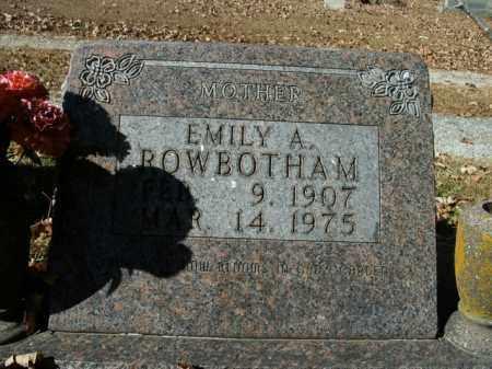 ROWBOTHAM, EMILY A. - Boone County, Arkansas   EMILY A. ROWBOTHAM - Arkansas Gravestone Photos
