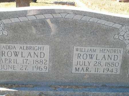 ROWLAND, ADDA - Boone County, Arkansas | ADDA ROWLAND - Arkansas Gravestone Photos