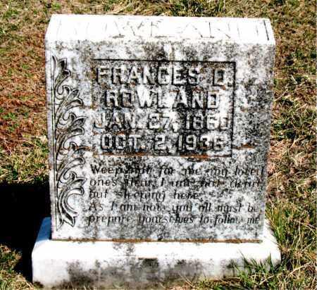 ROWLAND, FRANCES  B. - Boone County, Arkansas | FRANCES  B. ROWLAND - Arkansas Gravestone Photos