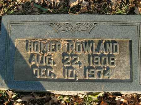 ROWLAND, HOMER - Boone County, Arkansas   HOMER ROWLAND - Arkansas Gravestone Photos