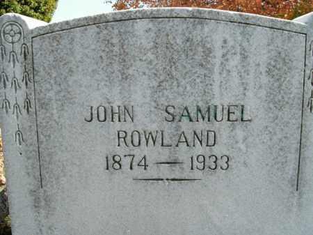 ROWLAND, JOHN SAMUEL - Boone County, Arkansas | JOHN SAMUEL ROWLAND - Arkansas Gravestone Photos