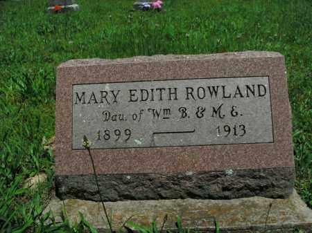 ROWLAND, MARY EDITH - Boone County, Arkansas | MARY EDITH ROWLAND - Arkansas Gravestone Photos