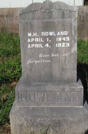 ROWLAND, M. H. - Boone County, Arkansas | M. H. ROWLAND - Arkansas Gravestone Photos