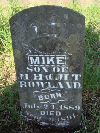 ROWLAND, MIKE - Boone County, Arkansas | MIKE ROWLAND - Arkansas Gravestone Photos