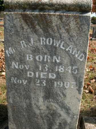 ROWLAND, REBECCA J - Boone County, Arkansas | REBECCA J ROWLAND - Arkansas Gravestone Photos