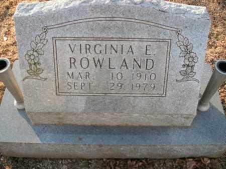 ROWLAND, VIRGINIA E. - Boone County, Arkansas | VIRGINIA E. ROWLAND - Arkansas Gravestone Photos