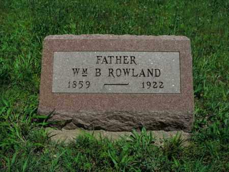 ROWLAND, WM. B. - Boone County, Arkansas | WM. B. ROWLAND - Arkansas Gravestone Photos