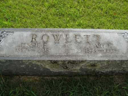 ROWLETT, MARY F. - Boone County, Arkansas | MARY F. ROWLETT - Arkansas Gravestone Photos