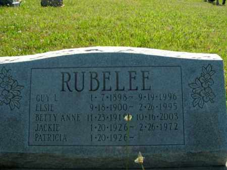 RUBELEE, BETTY ANNE - Boone County, Arkansas | BETTY ANNE RUBELEE - Arkansas Gravestone Photos
