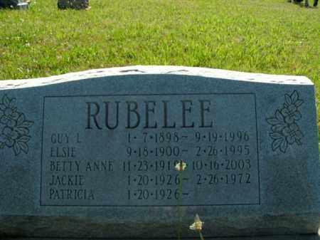 RUBELEE, GUY L. - Boone County, Arkansas | GUY L. RUBELEE - Arkansas Gravestone Photos