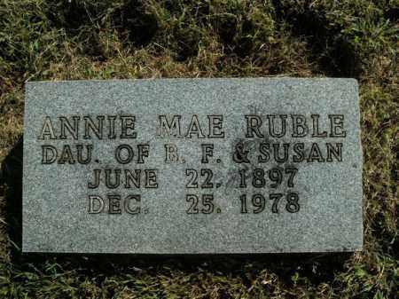 RUBLE, ANNIE MAE - Boone County, Arkansas | ANNIE MAE RUBLE - Arkansas Gravestone Photos