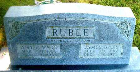 RUBLE, JAMES D.  SR. - Boone County, Arkansas | JAMES D.  SR. RUBLE - Arkansas Gravestone Photos