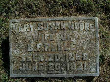MOORE RUBLE, MARY SUSAN - Boone County, Arkansas | MARY SUSAN MOORE RUBLE - Arkansas Gravestone Photos