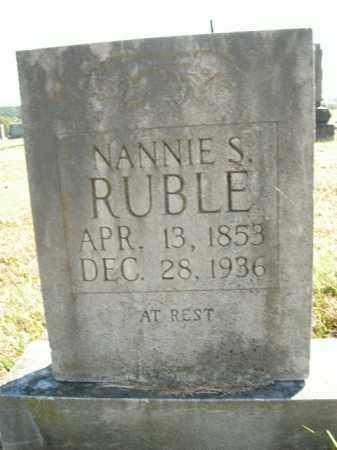 RUBLE, NANNIE S. - Boone County, Arkansas | NANNIE S. RUBLE - Arkansas Gravestone Photos