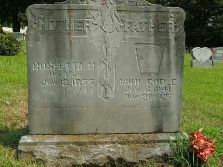 RUBLE, W.H.H. - Boone County, Arkansas | W.H.H. RUBLE - Arkansas Gravestone Photos