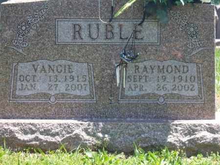 RUBLE, VANGIE - Boone County, Arkansas | VANGIE RUBLE - Arkansas Gravestone Photos