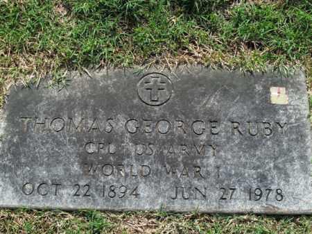 RUBY  (VETERAN WWI), THOMAS GEORGE - Boone County, Arkansas | THOMAS GEORGE RUBY  (VETERAN WWI) - Arkansas Gravestone Photos