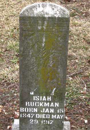 RUCKMAN, ISIAH - Boone County, Arkansas   ISIAH RUCKMAN - Arkansas Gravestone Photos