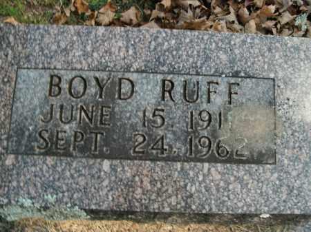 RUFF, BOYD - Boone County, Arkansas | BOYD RUFF - Arkansas Gravestone Photos